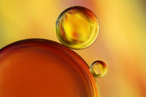 Macro of oil and water